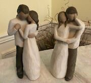 Willow Tree Promise Together Couple Figurines 2000/03 Susan Lordi Demdaco Set 2