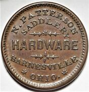 Barnesville Ohio N Patterson Civil War Store Card Token Oh 50a-1a