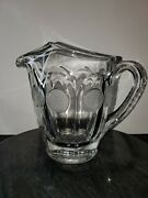 Rare Fostoria Coin Glass Set Pitcher, Bowl And Oval Serving Dish.