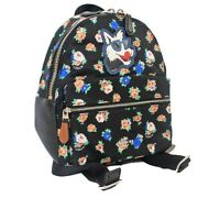 Coach Flower Dog Emblem Luc Daypack Ladies Black Nylon Leather F57636