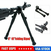 8-10and039and039 Folding Bipod Spring Return Rest For Rifle Hunting Clamp-on Barrel-mount