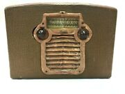 Vintage Admiral Portable Tube Radio For Parts Or Repair