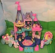 Fisher-price Little People Disney Princess Songs Palace W Figures And Carriages