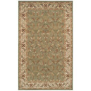 Heritage Traditional Floral Scroll Indoor Runner Or Area Rug By Blue Nile Mills