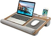 Laptop Desk Fits Up To 17 Inches Built In Mouse Pad And Wrist Pad Work From Home