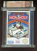 Monopoly Factory Sealed Nintendo Nes Wata 9.2/a Mint 1991 Parker Brothers