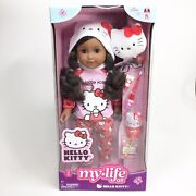 My Life As Hello Kitty 18 Poseable Doll African American Black Hair Doll