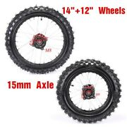 15mm Axle Hole 14 And 12 Wheel 60/100-14 And 80/100-12 For Dirt Pit Bike Off-road