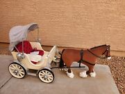 American Girl Pretty City Carriage With Clydesdale Horse And Accessories