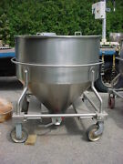 45 Cu. Ft. 338 Gallon Polished Stainless Steel Cone Tank Powder Hopper