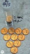 10 -1944 S Bu Uncirculated Lincoln Wheat Cent Pennies 2
