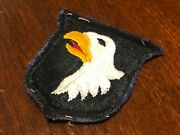 Post War Late 40s Us Army 101st Airborne Screaming Eagles Parrot Beak Patch