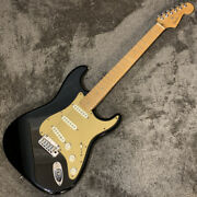 Used Fender 50th American Deluxe St Type Black Free Shipping Electric Guitar