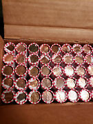 2500 Coins Bank Box Unsearched Lincoln Cent Penny 50 Rolls