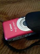 2lot Canon Powershot Elph Sd1200 Is 10mp Digital Camera - Red
