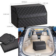 1912in Car Trunk Storage Box Organizer With Lid Traveling Shopping Collapsible