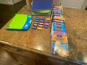 Leapfrog Leappad Learning System | Blue And Green Pad |14 Books And 14 Cartridges