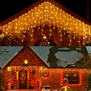 33ft 400 Led Icicle Lights Outdoor, Christmas Decorations Lights, Outdoor Eaves