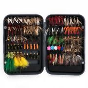 100pcs Fly Fishing Lures Lot Wet Dry Streamer Nymph Artificial Baits Trout Flies