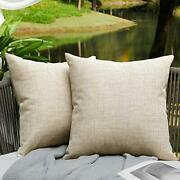 Outdoor Pillows Cover Square Cushion Farmhouse For Patio Furniture Waterproof