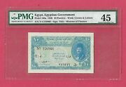 Egypt Government 10 Piasters 1940 P168a Pmg 45 Ch Xf