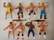 Wcw Wwf Wwe Vintage 1990's 5 Wrestling Figures Lot Of 8 With 2 Title Belts