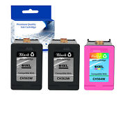 3pk Black Color Combo 61xl Ink Cartridge H564w Ch563w For Hp Envy 4504 5535