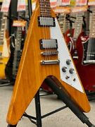 Used Gibson Flying V 2019 -antique Natural- 2019 Free Shipping Electric Guitar