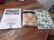 Lot Of 3 Holiday Vinyl Tablecloths 60 And 70 Roundflannel Backnew