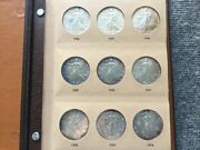 1986 -2020 Silver American Eagle 1oz. Complete Set In Danso Gem Bu. Unc. 35 Coin