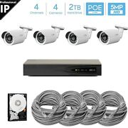 Hikvision 4k 8mp Nvr Outdoor Poe Ip 5mp Bullet Security Cctv Camera System Hdd