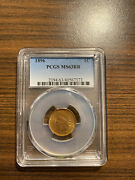 1896-p Indian Head Penny Cent Pcgs Ms 63 Red Brown Rb Type 3 Bronze Rare