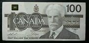 1988 Circulated Bank Of Canada 100 Dollar Bje Thiessen Crow Bc-60a-i Goose