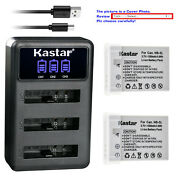Kastar Battery Triple Usb Charger For Canon Nb-5l 5lh Powershot Sd790 Is Sd790is