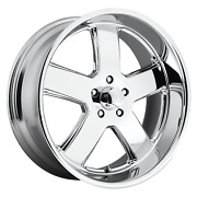 22 Inch 5x5 4 Wheels Rims 22x11 +18mm Chrome Plated Us Mag 1pc U116 Hustler