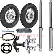 2.5-10 Wheels Tires Rim And Drum Brake And Front Fork Triple Tree F Crf50 Xr50 Bike