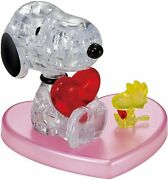 Snoopy Crystal 3d Puzzle 31pcs Hug Heart Collectible Peanuts Beverly New