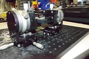 Newport 460a Xyz Translation Stage And Newport 3 Inch Rotary And Opto Sigma Tilt