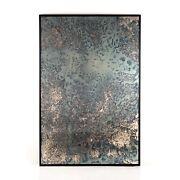 80 H Artistic Acid Wash Contemporary Mirror Iron Wall Art Iron Frame Industrial