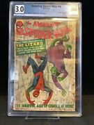 The Amazing Spider-man 6 Graded 3.0 🔥 🗝 First Lizard 1963