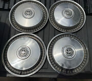 Ford Motor Company Vintage 15 Inch Hubcaps Set Of 4