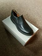 Clarks Menand039s Unstructured Ramble Step Loafer Style 36999 Black