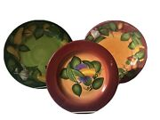 Gates Ware By Laurie Gates Vegetable Pattern Plates 2 Dinner 1 Salad Very Nice