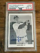2017 Topps Archives Aaron Judge As-aj Snapshots B And W Auto 9/25 Psa 10 Gem Mint