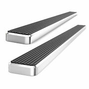 6 Silver Eboard Running Boards For 2005-2018 Toyota Tacoma Double Cab Pickup
