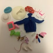 Barbie Accessories Shoes Stand Sweater Purse Sunglasses Hats- Some Vintage