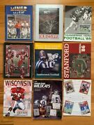 College Football Lot Of 10 Media Guides    Stanford+arizona+wisconsin+k State