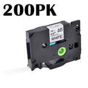 100pk Tz-231 Tze-231 0.47 Label Tape For Brother P-touch Pt-1290 Black On White