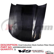 Vis Racing Carbon Fiber Hood Cowl Induction Style For 2010-2012 Ford Mustang