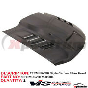 Fit 2010-2012 Ford Mustang Terminator Style Carbon Fiber Hood By Vis Racing